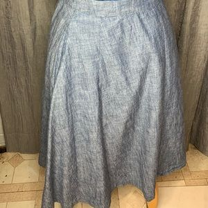 Lane Bryant denim Chambray circle skirt. Size 16